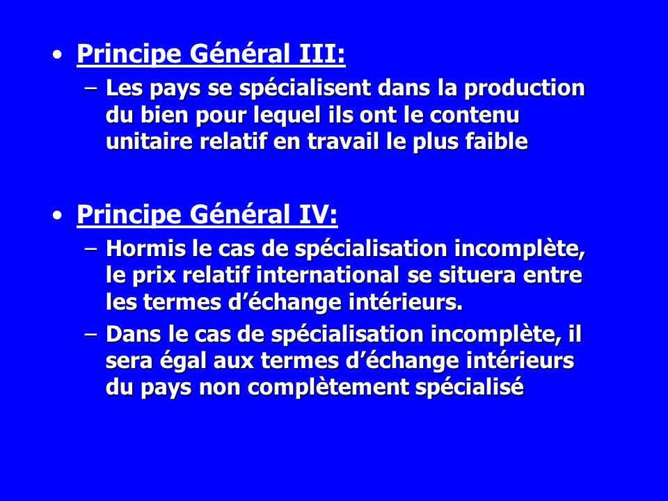 Principe Général III: Principe Général IV: