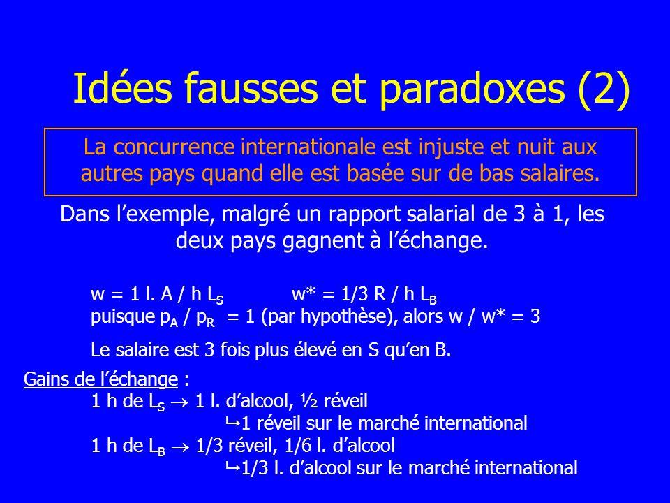Idées fausses et paradoxes (2)