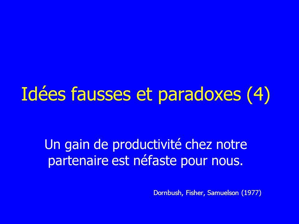 Idées fausses et paradoxes (4)