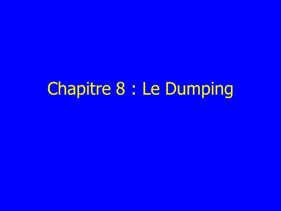 Chapitre 8 : Le Dumping