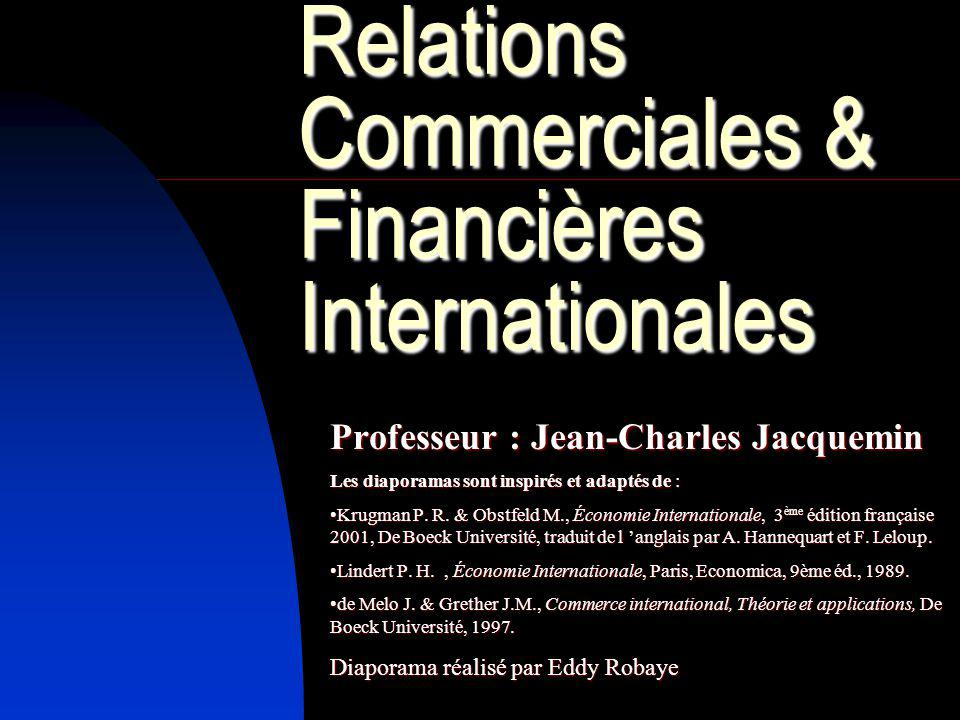 Relations Commerciales & Financières Internationales