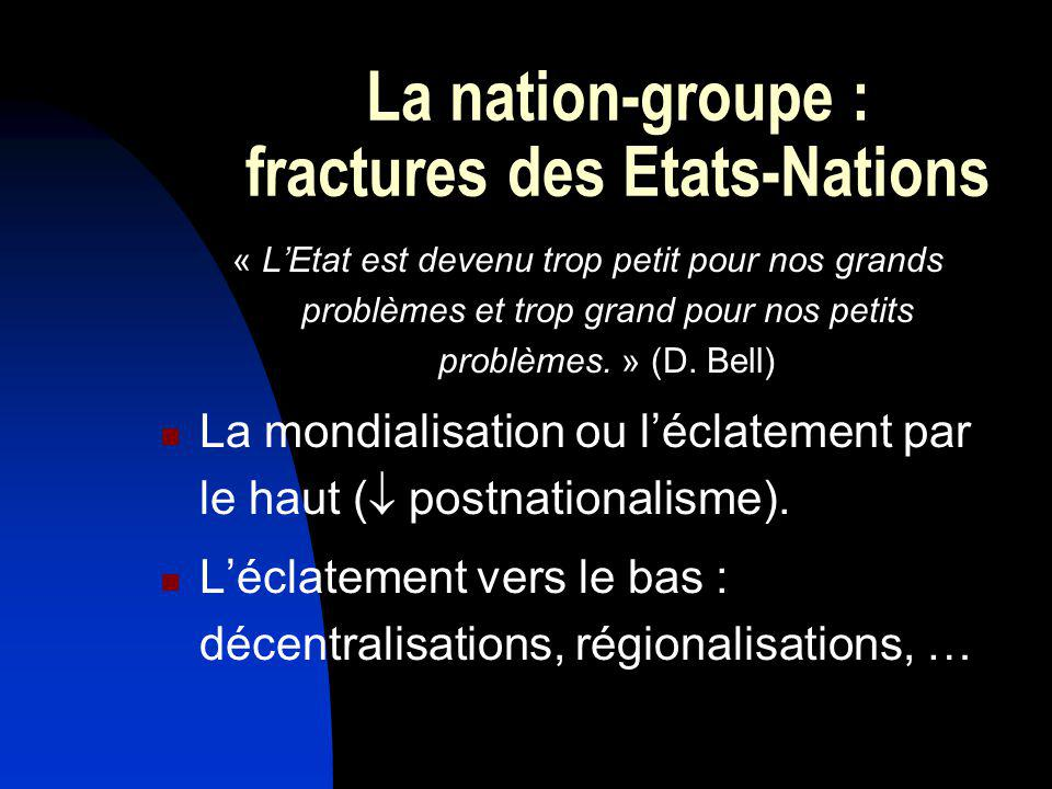 La nation-groupe : fractures des Etats-Nations