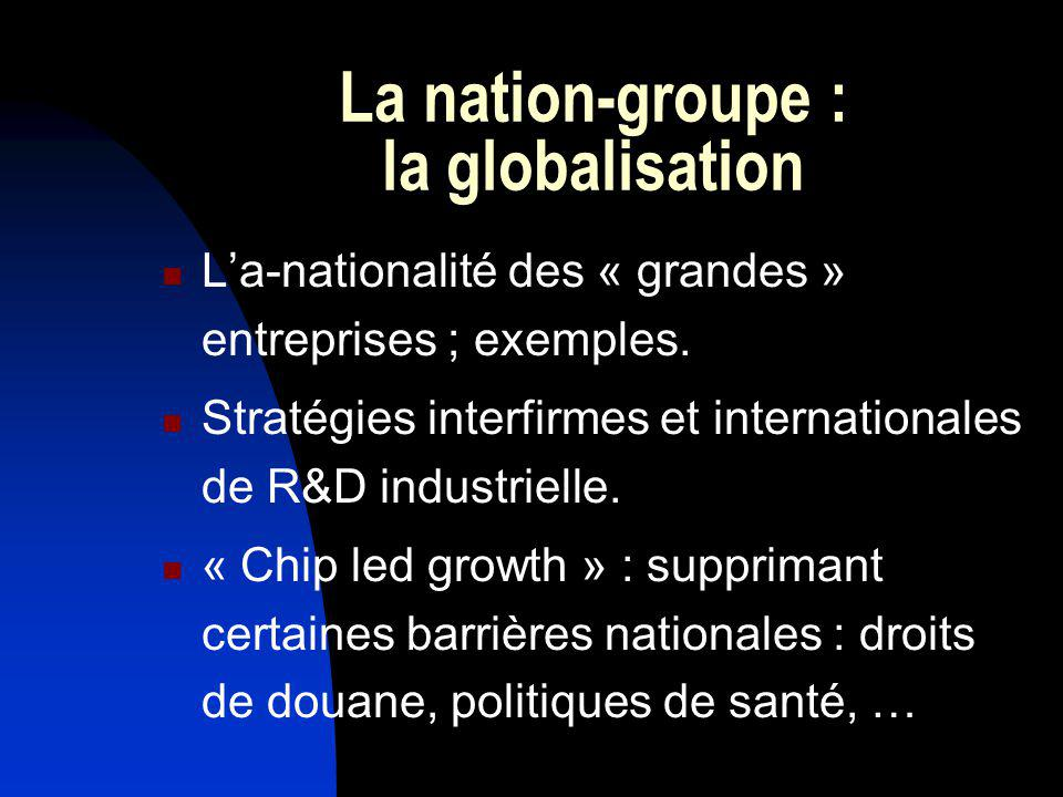 La nation-groupe : la globalisation