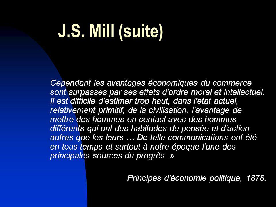 J.S. Mill (suite)