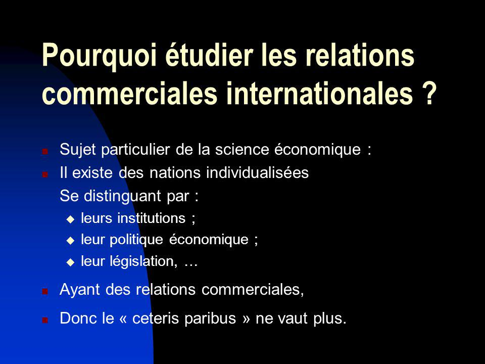 Pourquoi étudier les relations commerciales internationales