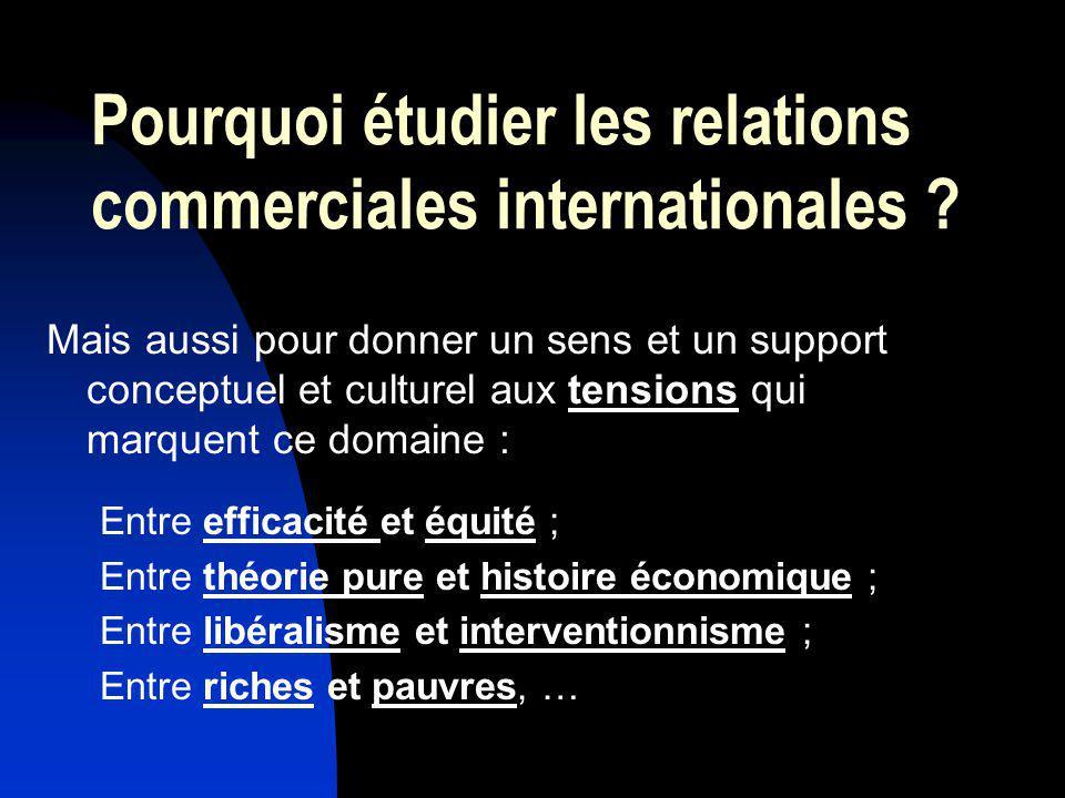 Pourquoi étudier les relations commerciales internationales