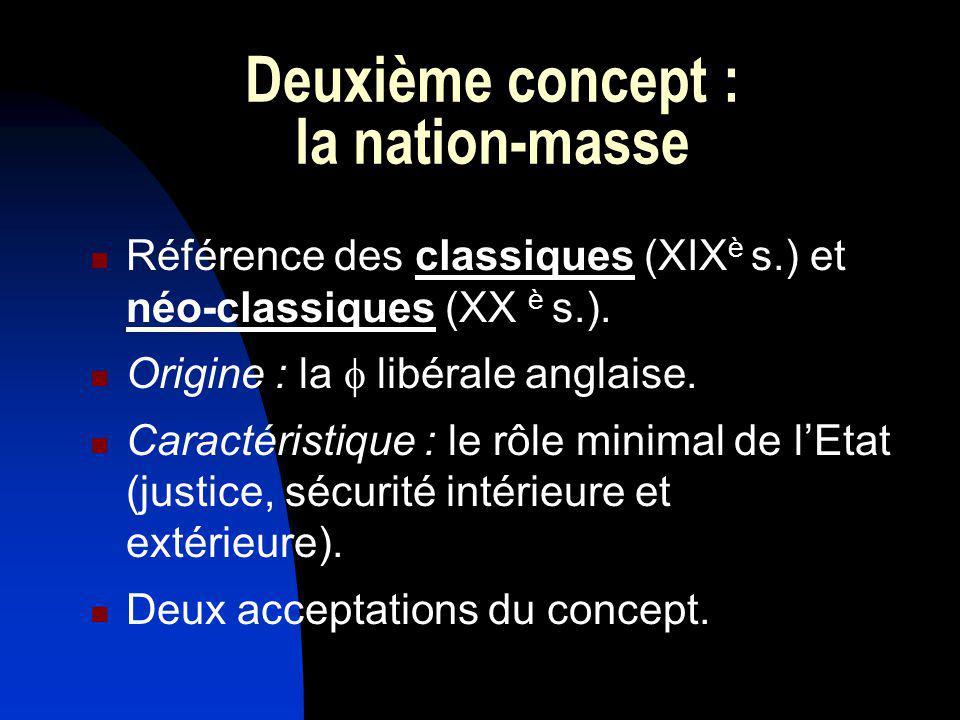 Deuxième concept : la nation-masse