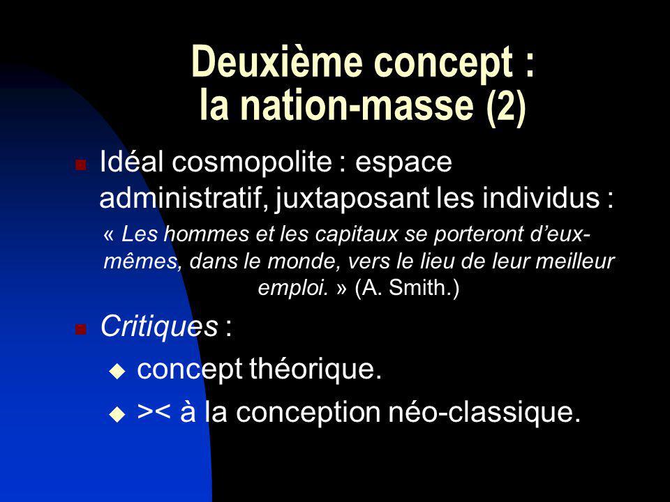 Deuxième concept : la nation-masse (2)