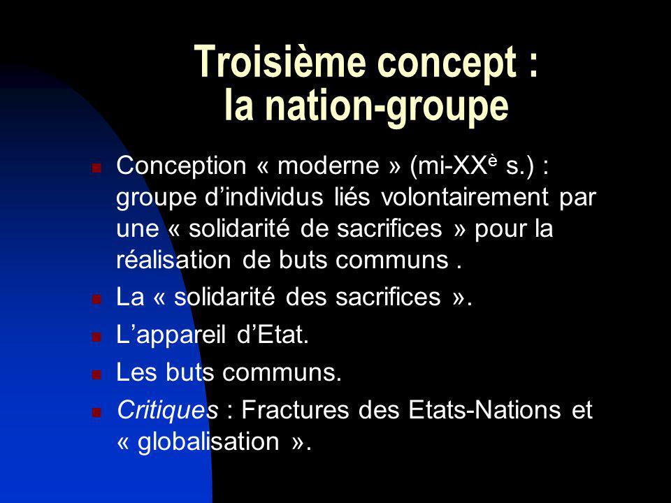 Troisième concept : la nation-groupe