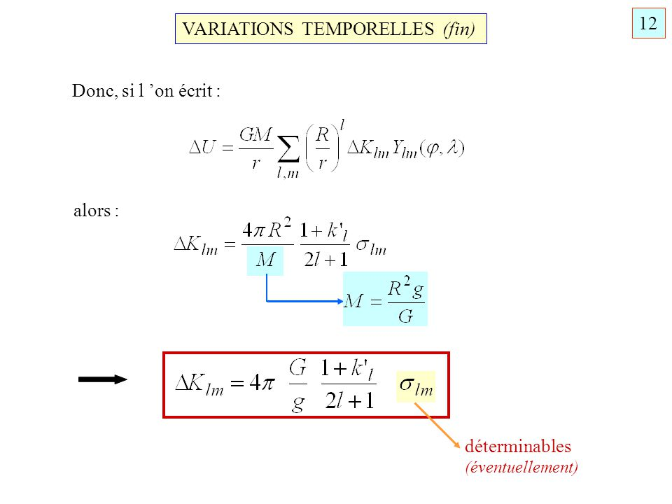 VARIATIONS TEMPORELLES (fin)
