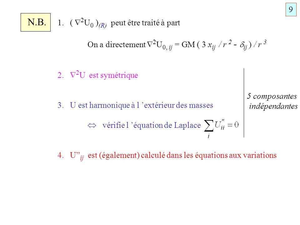 N.B. 1. ( 2U0 )(R) peut être traité à part