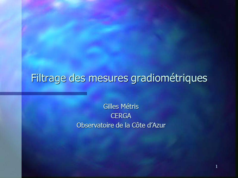 Filtrage des mesures gradiométriques