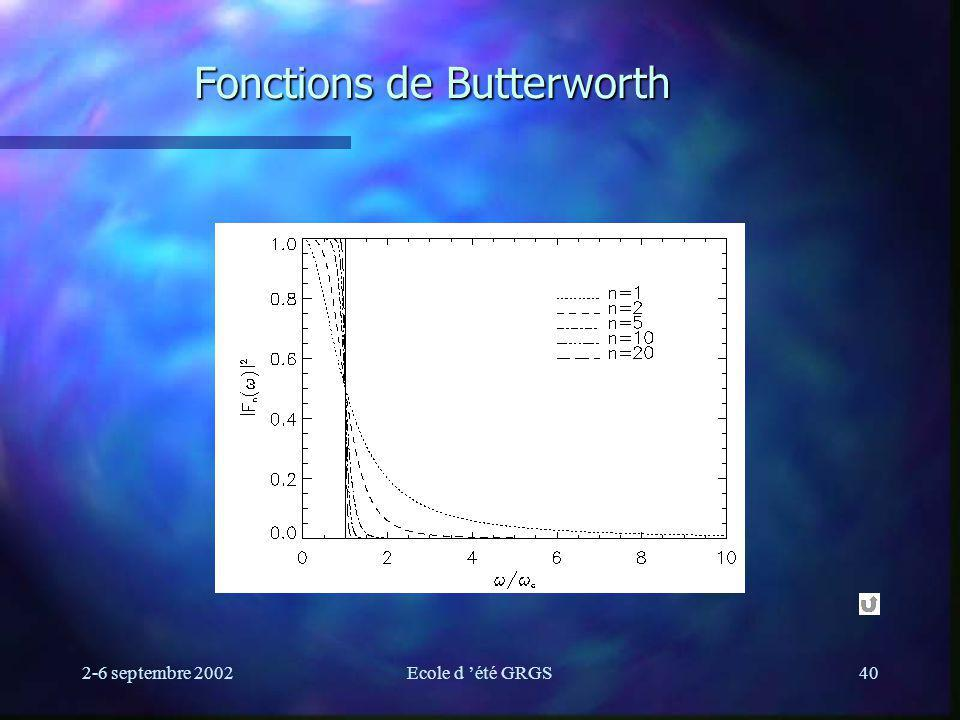 Fonctions de Butterworth