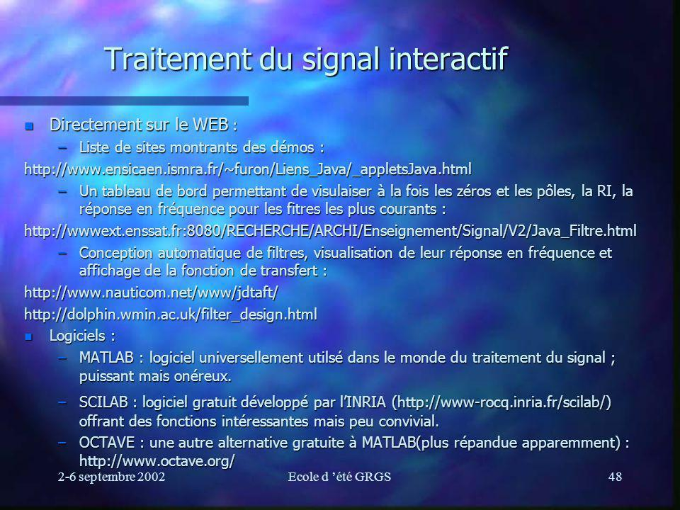 Traitement du signal interactif