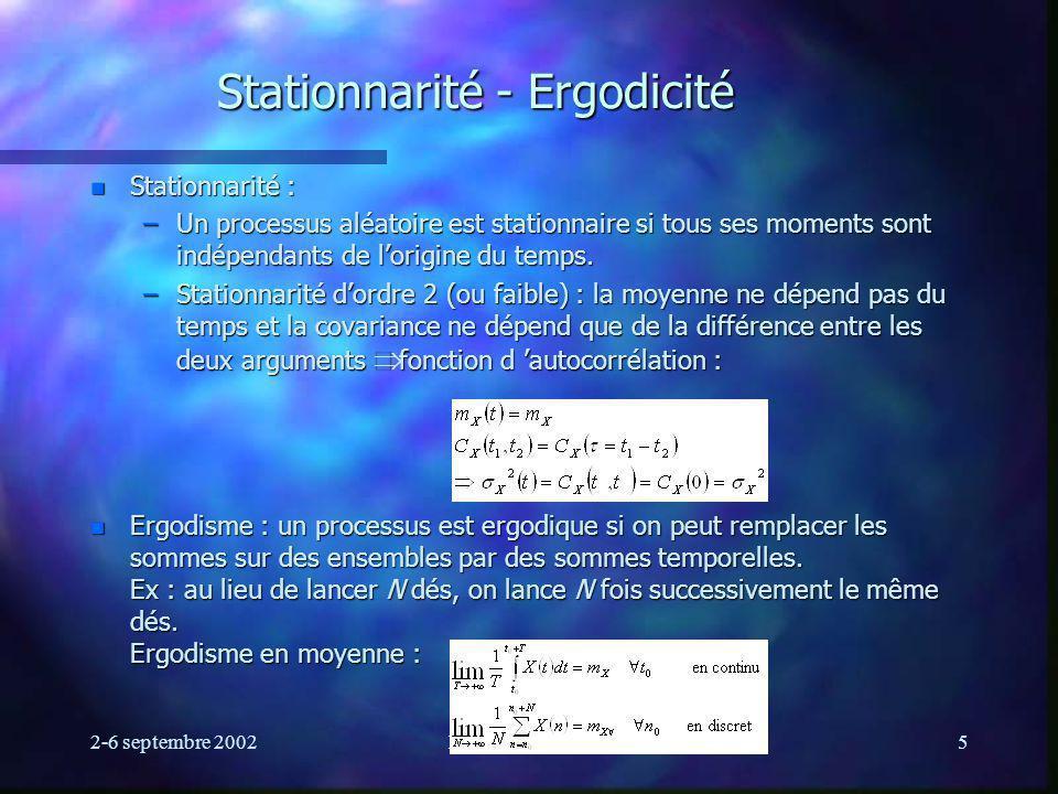 Stationnarité - Ergodicité
