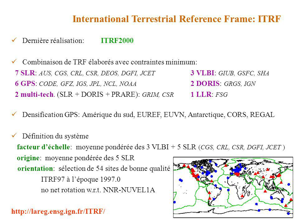 International Terrestrial Reference Frame: ITRF