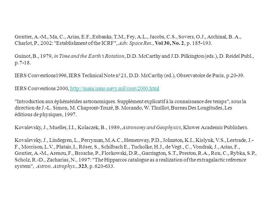 Gontier, A. -M. , Ma, C. , Arias, E. F. , Eubanks, T. M. , Fey, A. L