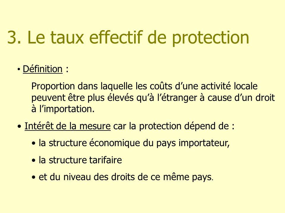 3. Le taux effectif de protection