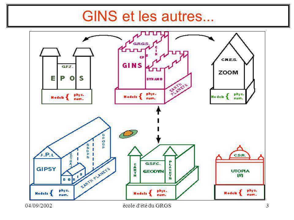 GINS et les autres... 04/09/2002 école d été du GRGS