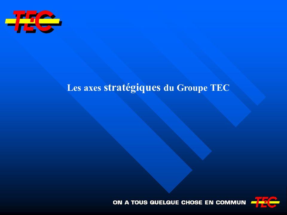Les axes stratégiques du Groupe TEC