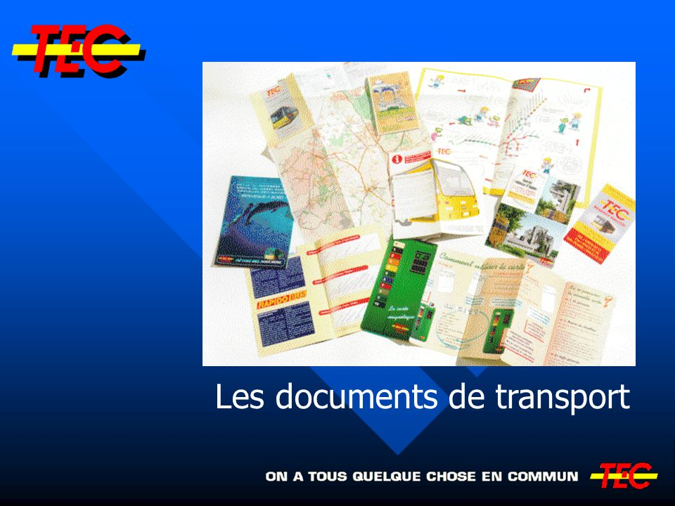 Les documents de transport