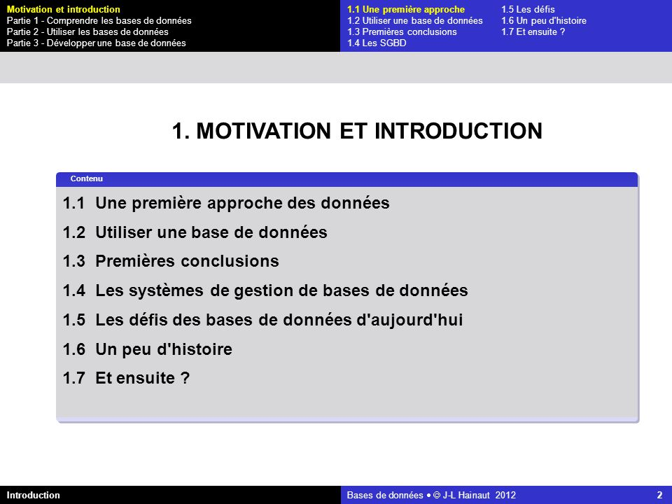 1. MOTIVATION ET INTRODUCTION