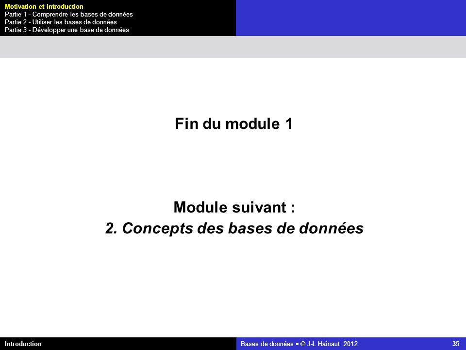 2. Concepts des bases de données