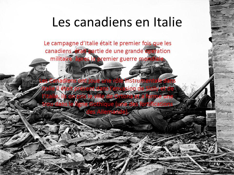 Les canadiens en Italie