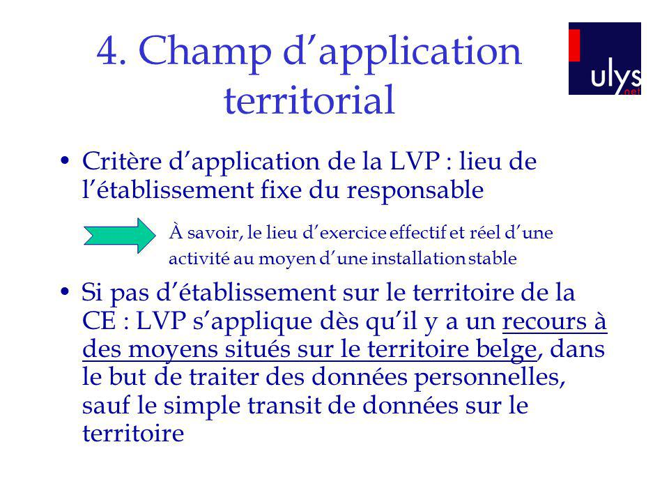 4. Champ d'application territorial