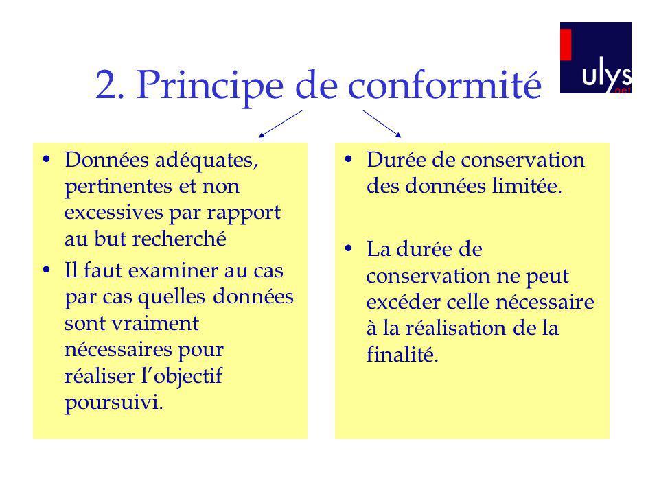 2. Principe de conformité