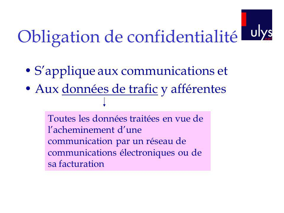 Obligation de confidentialité