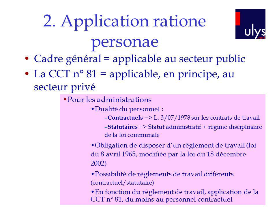 2. Application ratione personae