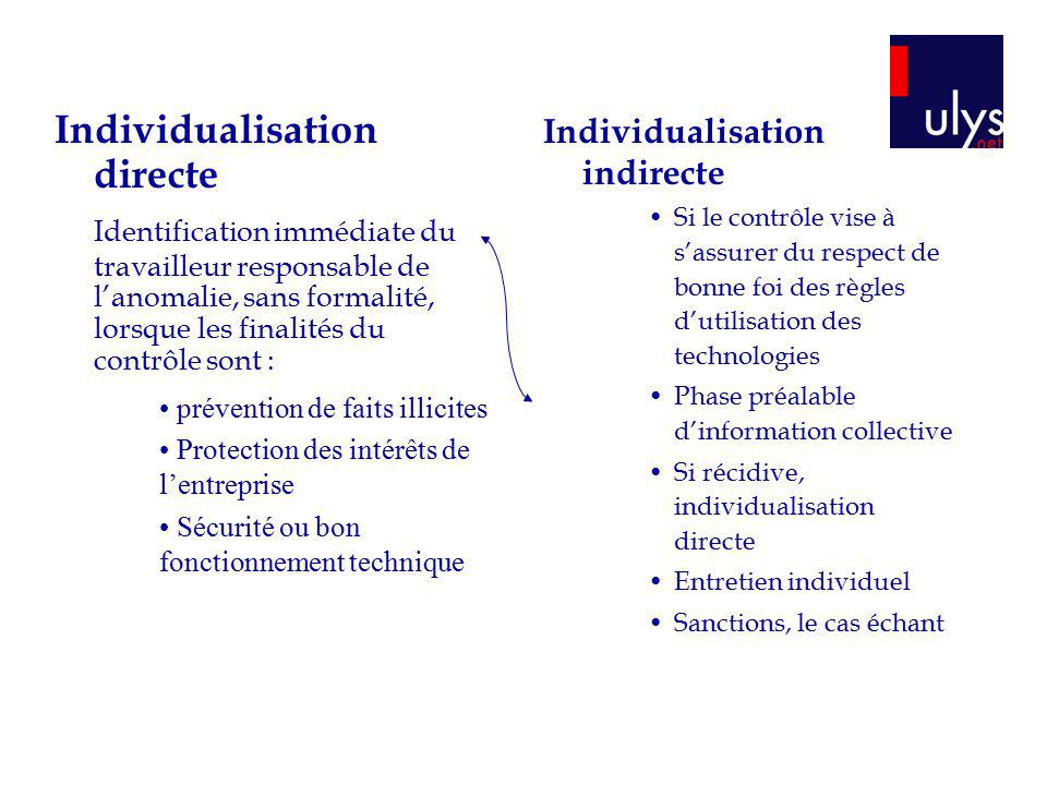 Individualisation directe