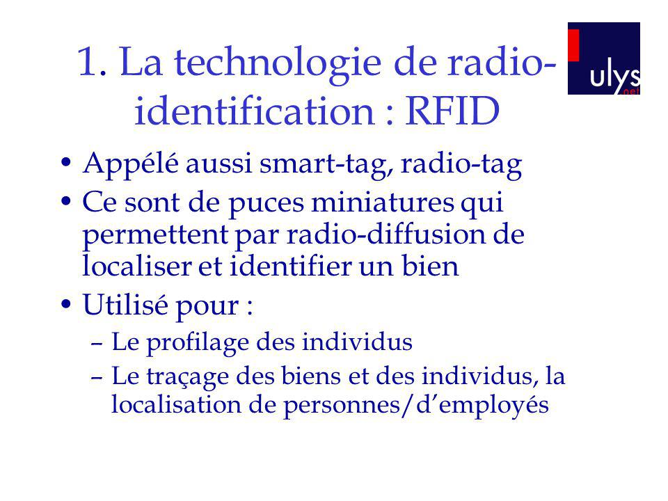 1. La technologie de radio-identification : RFID