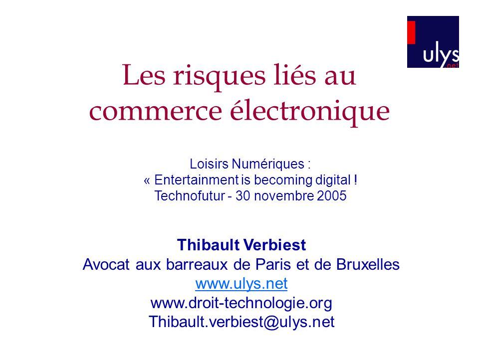 Les risques liés au commerce électronique