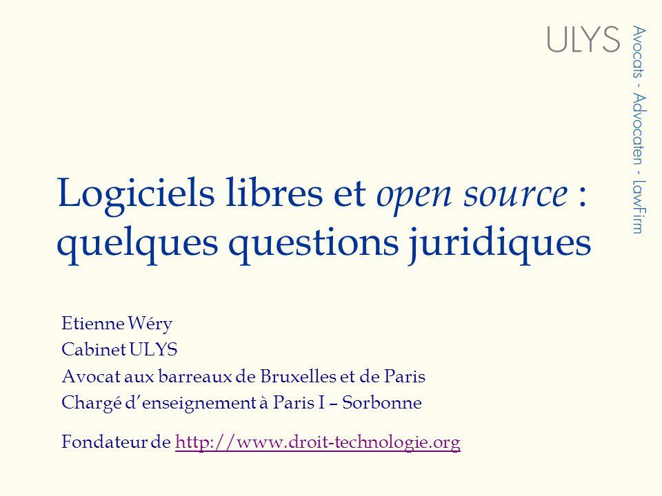 Logiciels libres et open source : quelques questions juridiques