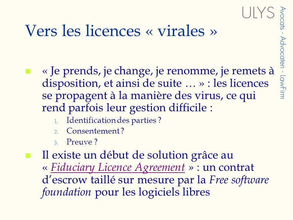 Vers les licences « virales »