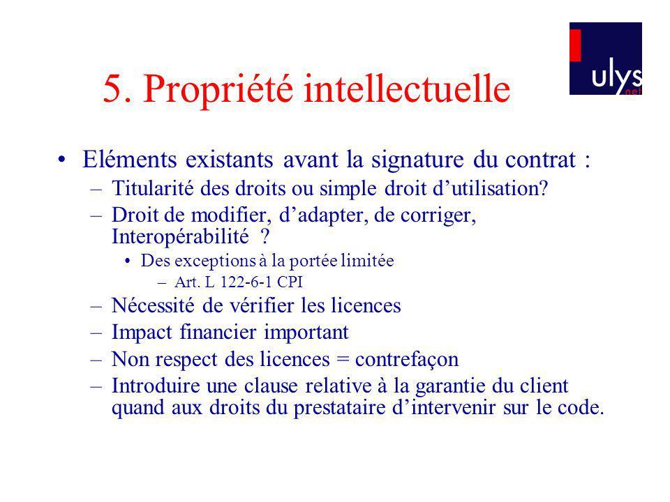 5. Propriété intellectuelle