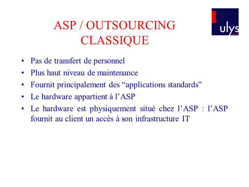 ASP / OUTSOURCING CLASSIQUE