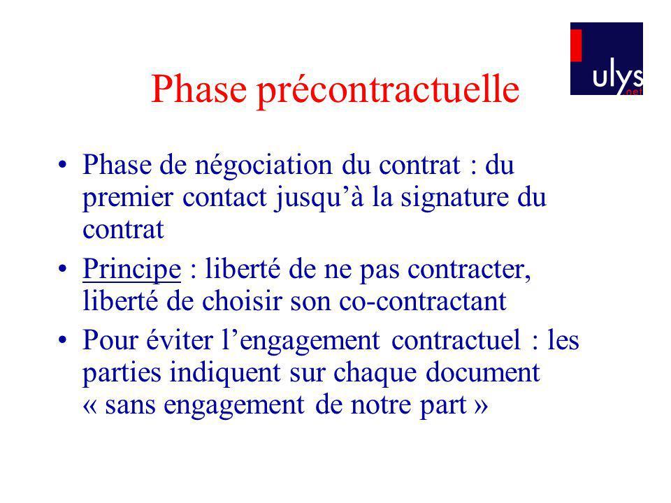 Phase précontractuelle