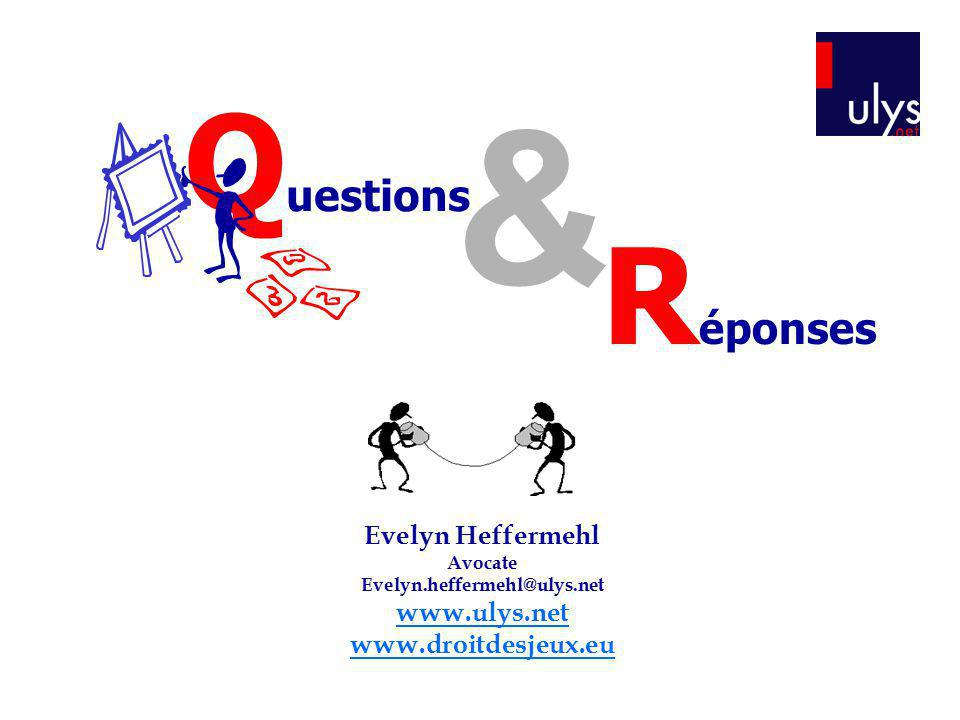 & Questions Réponses Evelyn Heffermehl www.ulys.net