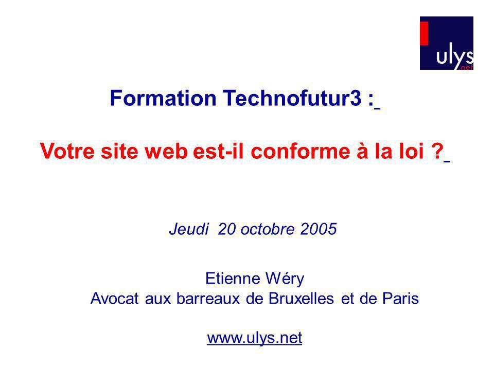 Formation Technofutur3 : Votre site web est-il conforme à la loi
