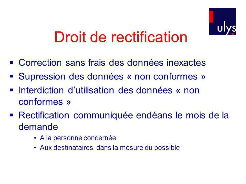 Droit de rectification
