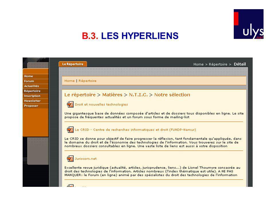 B.3. LES HYPERLIENS