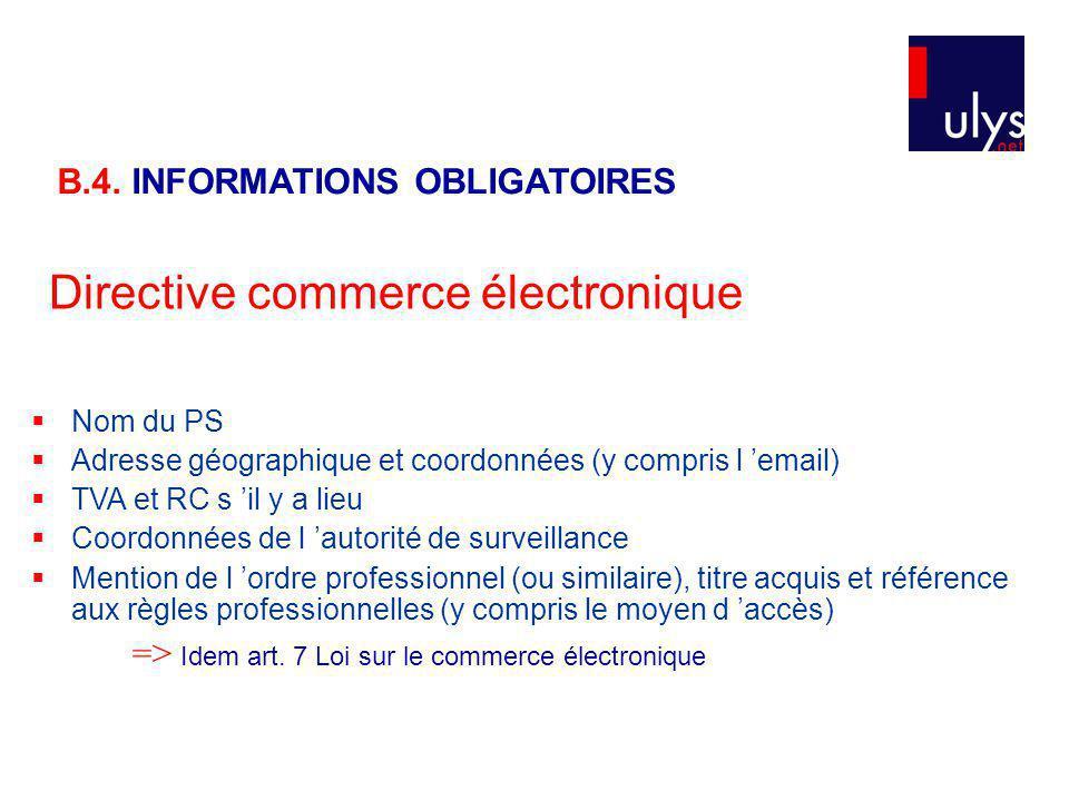 Directive commerce électronique