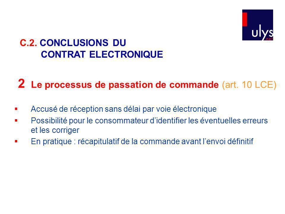 2 Le processus de passation de commande (art. 10 LCE)