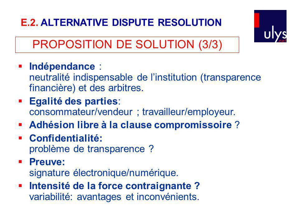 PROPOSITION DE SOLUTION (3/3)