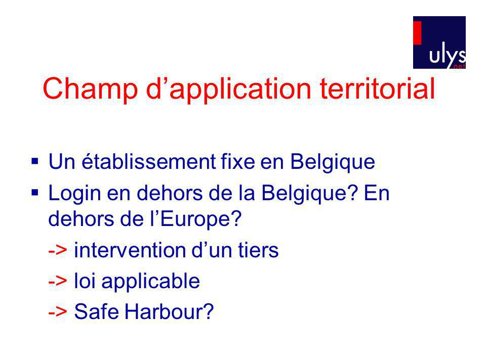 Champ d'application territorial