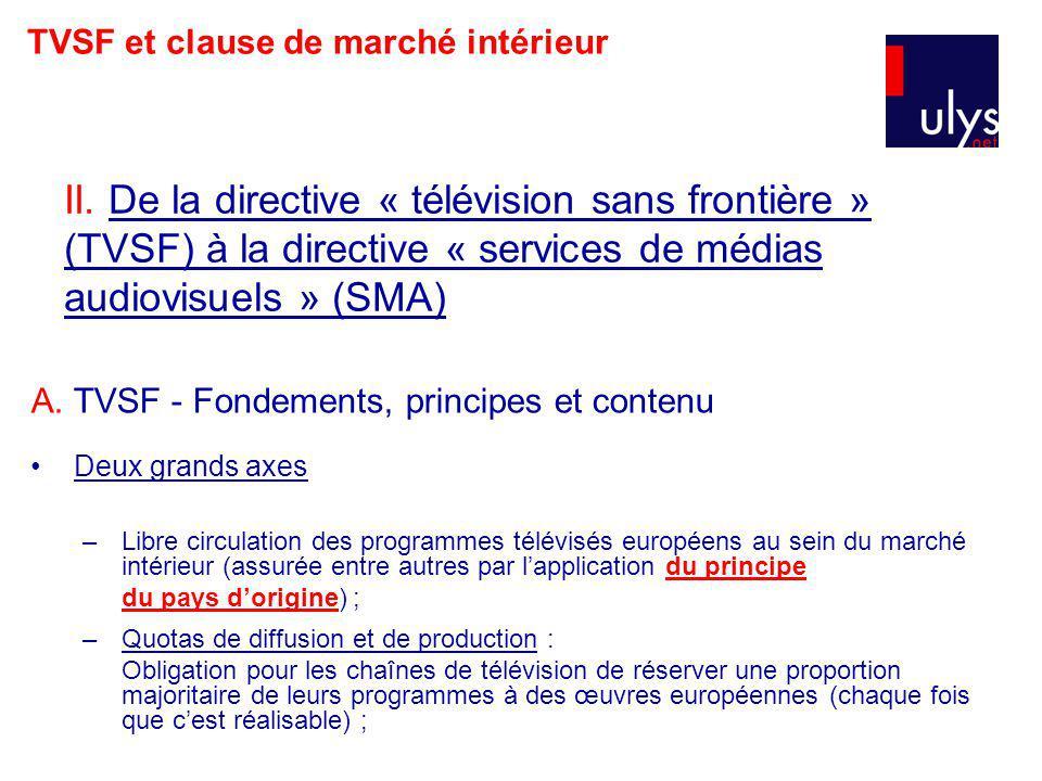 TVSF et clause de marché intérieur