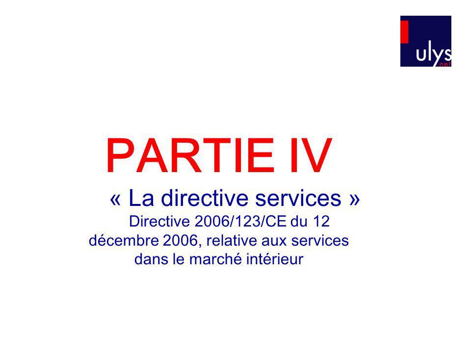 « La directive services »